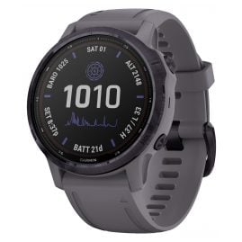 Garmin 010-02409-15 Fenix 6S Pro Solar Smartwatch Dark Grey / Purple