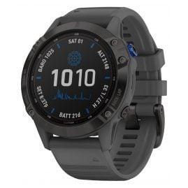 Garmin 010-02410-11 Fenix 6 Pro Solar Smartwatch Schiefergrau / Schwarz