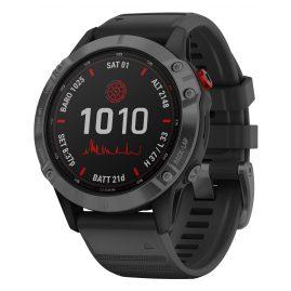 Garmin 010-02410-15 Fenix 6 Pro Solar Smartwatch Schwarz / Schiefergrau