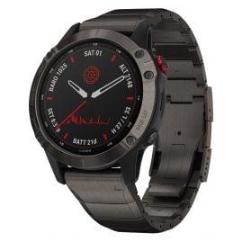 Garmin 010-02410-23 Fenix 6 Pro Solar Smartwatch Black / Titanium DLC