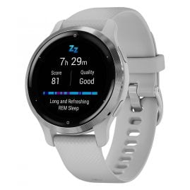 Garmin 010-02429-12 Venu 2S Fitness Smartwatch Light Grey/Silver Tone