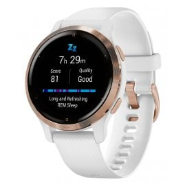 Garmin 010-02429-13 Venu 2S Fitness Smartwatch Weiß/Roségoldfarben