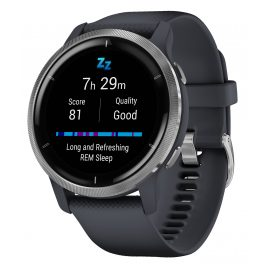 Garmin 010-02430-10 Venu 2 Fitness Smartwatch Slate Blue/Silver Tone