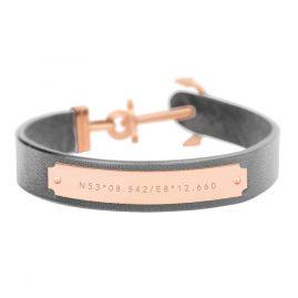 Paul Hewitt PH-FSC-R-GR Ankerarmband Signum Koordinaten Rosé/Grau