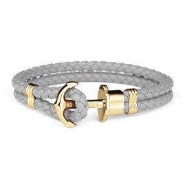 Paul Hewitt PH-PH-L-G-Gr-XL Bracelet Grey/Gold Tone