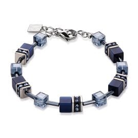 Coeur de Lion 4322/30-0722 Ladies Bracelet Geo Cube Navy
