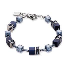 Coeur de Lion 4322/30-0722 Damen-Armband Geo Cube Navy