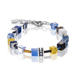 Coeur de Lion 2838/30-0701 Damenarmband Blau/Gelb