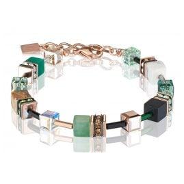 Coeur de Lion 4905/30-0510 Damen-Armband Grün/Beige