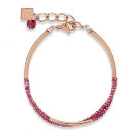 Coeur de Lion 4960/30-0300 Damen-Armband Weinrot
