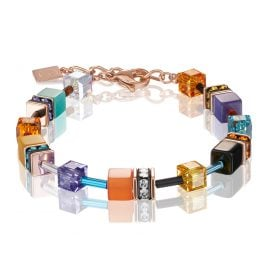 Coeur de Lion 2838/30-1575 Ladies Bracelet GeoCUBE Multi-Colour Couture 2