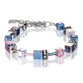 Coeur de Lion 2839/30-719 Ladies' Bracelet GeoCUBE Blue-Pink