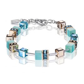 Coeur de Lion 4016/30-2000 Ladies' Bracelet GeoCUBE Aqua Stainless Steel Blue / Rose