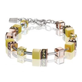 Coeur de Lion 4016/30-0120 Ladies' Bracelet GeoCUBE Light Yellow