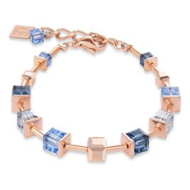 Coeur de Lion 4996/30-700 Ladies' Bracelet Monochrome Stainless Steel rose gold blue