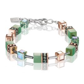 Coeur de Lion 4016/30-0520 Ladies' Bracelet GeoCUBE Light Green