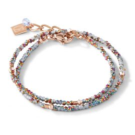 Coeur de Lion 5033/30-720 Ladies' Bracelet Stainless Steel silver / rose