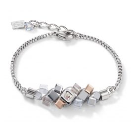 Coeur de Lion 5037/30-1723 Ladies Bracelet Stainless Steel silver / rose