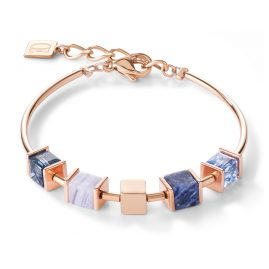Coeur de Lion 5052/30-0700 Ladies Bracelet Stainless Steel Blue / Rose