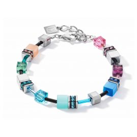 Coeur de Lion 2840/30-1544 Damen-Armband GeoCUBE multicolor fresh vintage