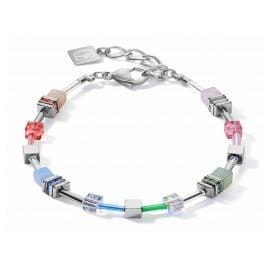 Coeur de Lion 5007/30-1522 Damen-Armband GeoCUBE summer multi pastell-silber