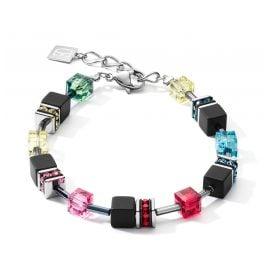 Coeur de Lion 4018/30-1581 Ladies´ Bracelet GeoCUBE Multi-Colour Pop Art