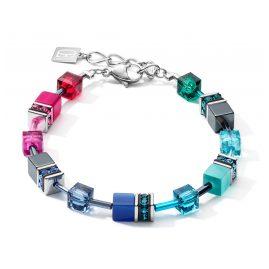 Coeur de Lion 5012/30-1520 Armband für Damen GeoCUBE Multicolor Regenbogen