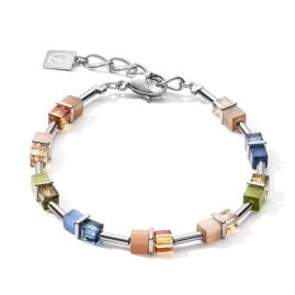 Coeur de Lion 5020/30-0750 Damenarmband Blau/Braun/Oliv