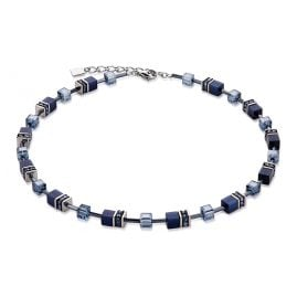 Coeur de Lion 4322/10-722 Ladies Necklace Geo Cube Navy