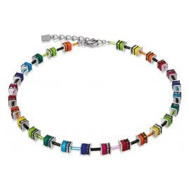 Coeur de Lion 4409/10-1500 Collier Geo Cube Small Multicolor