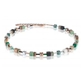 Coeur de Lion 4905/10-0510 Ladies´ Necklace Green/Beige