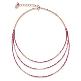 Coeur de Lion 4960/10-0300 Ladies´ Necklace Wine-Red