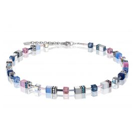 Coeur de Lion 2839/10-719 Ladies' Necklace GeoCUBE Blue-Pink