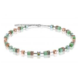 Coeur de Lion 4016/10-0520 Ladies' Necklace GeoCUBE Light Green
