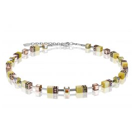 Coeur de Lion 4016/10-120 Ladies' Necklace GeoCUBE Light Yellow