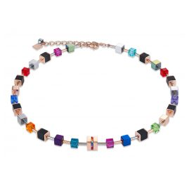 Coeur de Lion 4980/10-1500 Ladies' Necklace GeoCUBE Multi-Colour