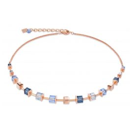 Coeur de Lion 4996/10-0700 Ladies Necklace Monochrome Stainless Steel rose gold blue