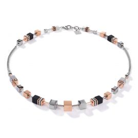 Coeur de Lion 5008/10-1631 Ladies Necklace Stainless Steel rose gold tone / silver