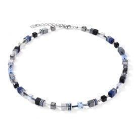 Coeur de Lion 5011/10-0700 Ladies Necklace Geo Cube Blue