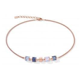 Coeur de Lion 5052/10-0700 Damen-Kette Edelstahl roségold / blau