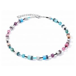 Coeur de Lion 2840/10-1544 Ladies' Necklace GeoCUBE multicolour fresh vintage