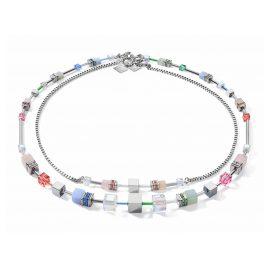 Coeur de Lion 5007/10-1522 Necklace GeoCUBE Multitask 4-in-1 summer multi pastel
