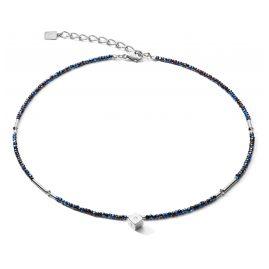 Coeur de Lion 5080/10-0746 Damen-Halskette mit Würfel-Anhänger Nachtblau