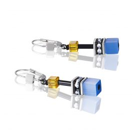 Coeur de Lion 2838/20-0701 Ladies´ Earrings Blue/Yellow