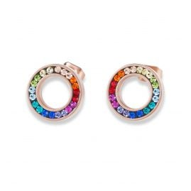 Coeur de Lion 4973/21-1500 Ladies´ Stud Earrings Multi-Coloured