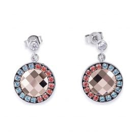 Coeur de Lion 4954/21-2003 Ladies' Earrings Aqua/Red