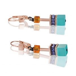 Coeur de Lion 2838/20-1575 Women's Drop Earrings GeoCUBE Multi-Colour Couture 2