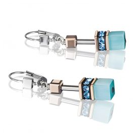 Coeur de Lion 4016/20-2000 Ladies' Drop Earrings GeoCUBE Aqua