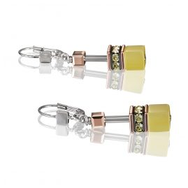 Coeur de Lion 4016/20-0120 Women's Drop Earrings GeoCUBE Light Yellow