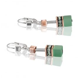 Coeur de Lion 4016/20-520 Ladies' Drop Earrings GeoCUBE Light Green